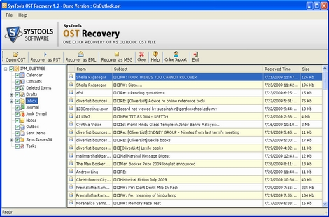Recover Outlook OST File 4.0